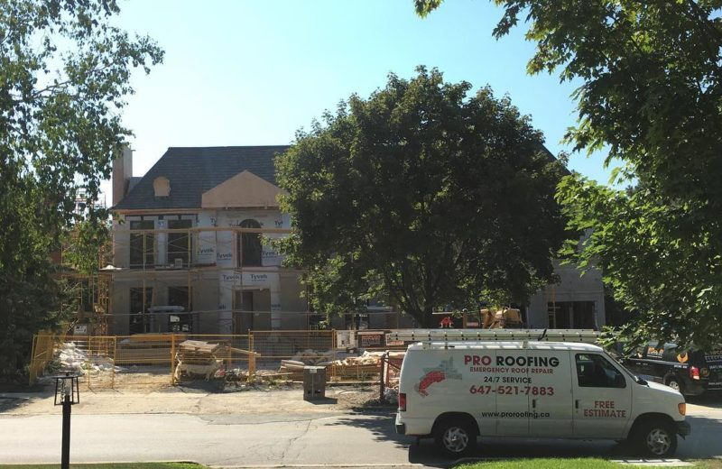 shingles roof install by Pro Roofing