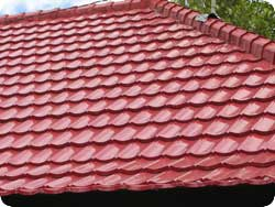 Aluminum roofing service ontario free cost estimate for Barrel tile roof colors