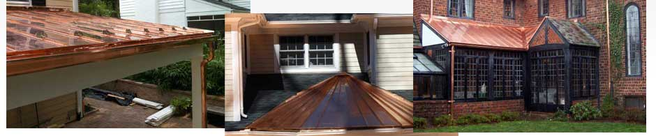 Copper roofing in Ajax, Whitby, Oshawa, Vaughan, Caledon, Bolton, Aurora, Newmarket