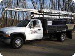 Emergency roof repair truck