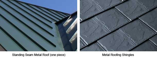 Standing seam and shingles steel roof